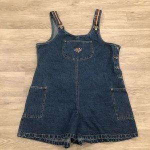 Route 66 Vintage Rainbow Overall Shorts Size L